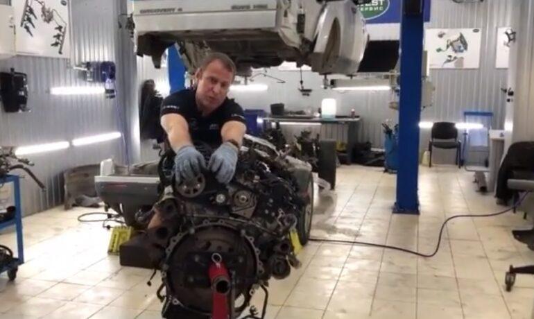 Ремень привода ТНВД на дизельном двигателе 3.0 TD - часть 2/3