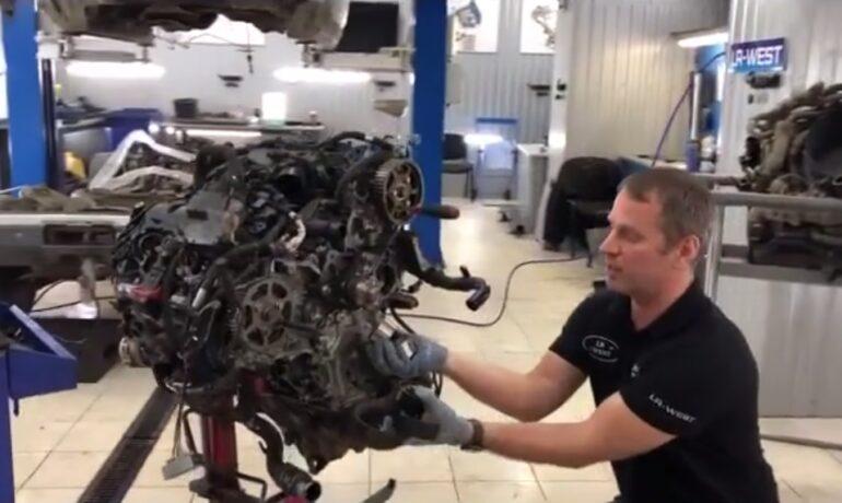 Ремень привода ТНВД на дизельном двигателе 3.0 TD - часть 1/3