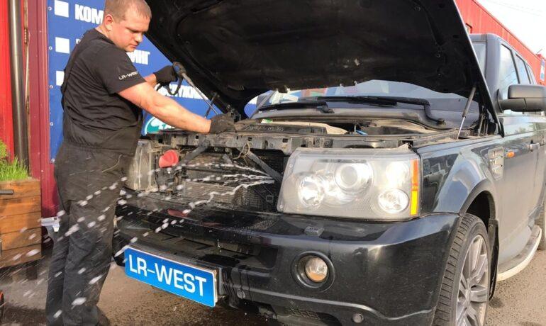 Мойка радиаторов на Range Rover Sport