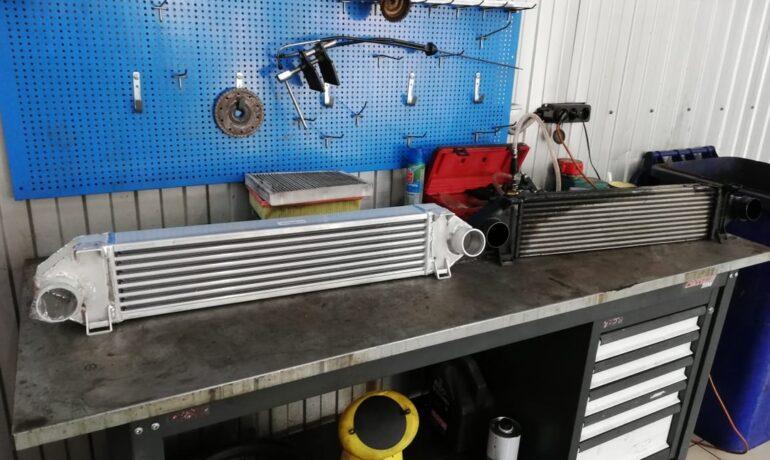 Новый интеркулер для двигателя 2.2 TD4