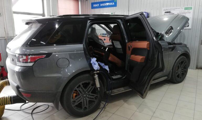 Пропуски зажигания на Range Rover 3.0 SC и 5.0 SC - промывка инжекторов, замена топливного фильтра и свечей зажигания
