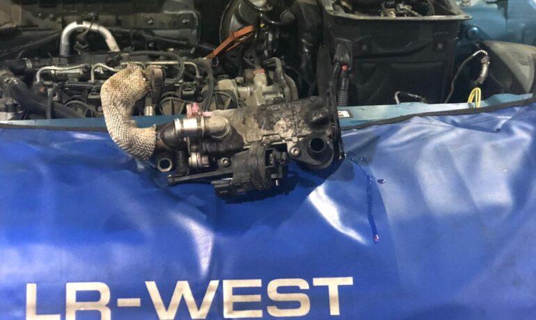 Узел ЕГР на Range Rover Evoque 2.2 TD