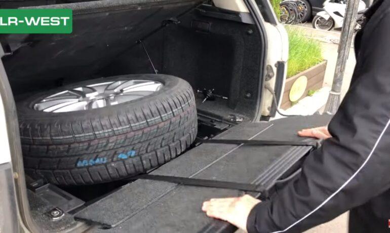 Рендж Ровер L322 | Ремни запасного колеса | Безопасное извлечение запаски