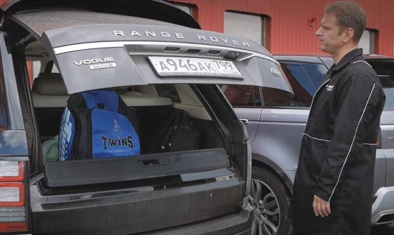 Открой багажник НОГОЙ на Range Rover 2013 г.в. | Открывание багажника жестами