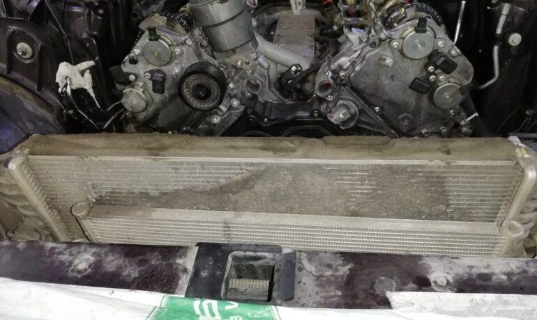 Jaguar XJ 5.0 SC - загрязнение радиаторов
